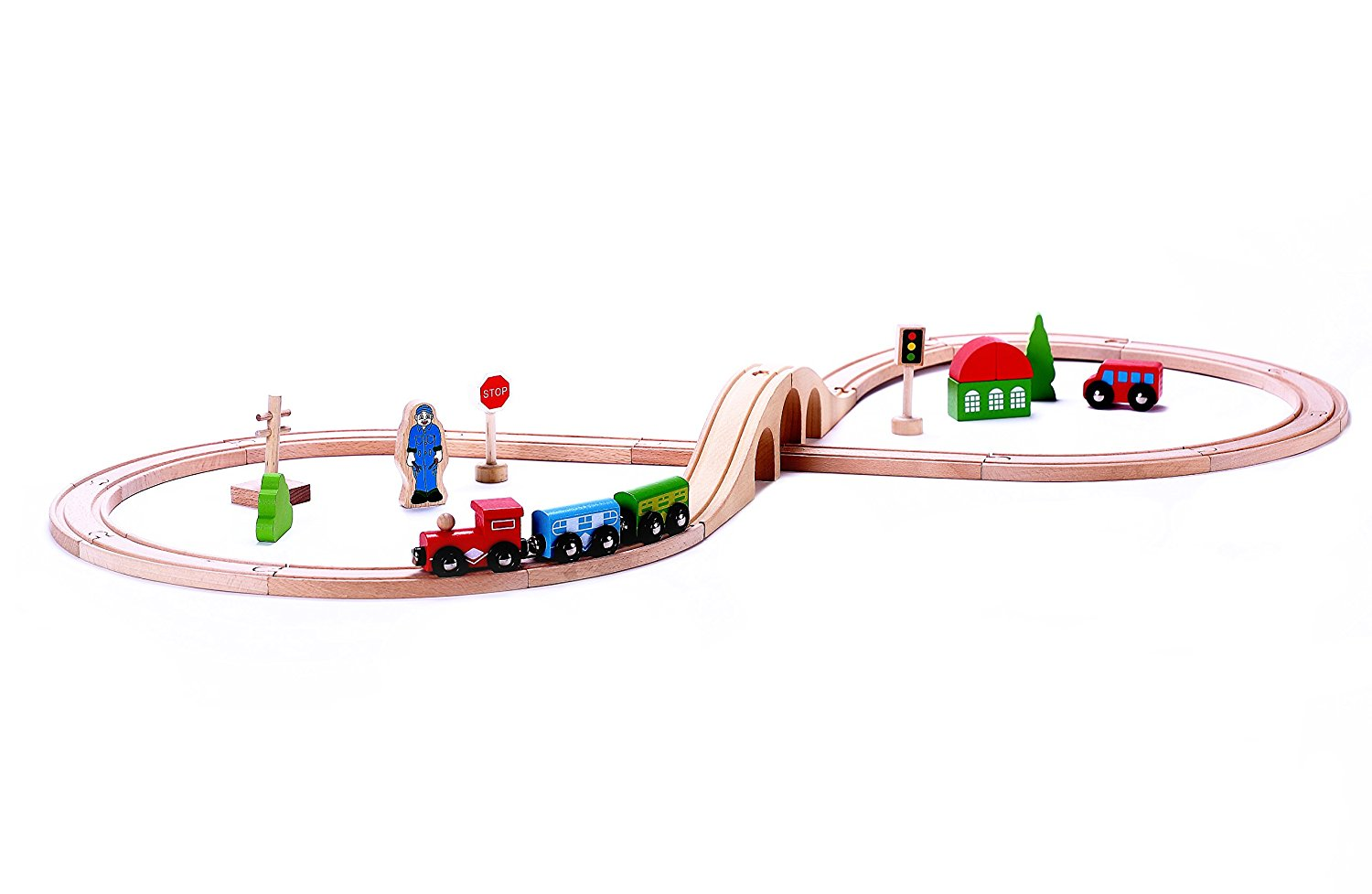 Best Train Sets Classic Wooden Toy Train Starter Set