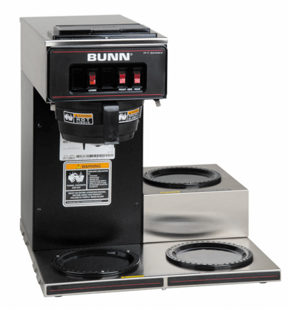 Bunn Coffee Makers-VP17-3 12 Cup Low Profile Pourover Coffee Brewer With 3 Warmers