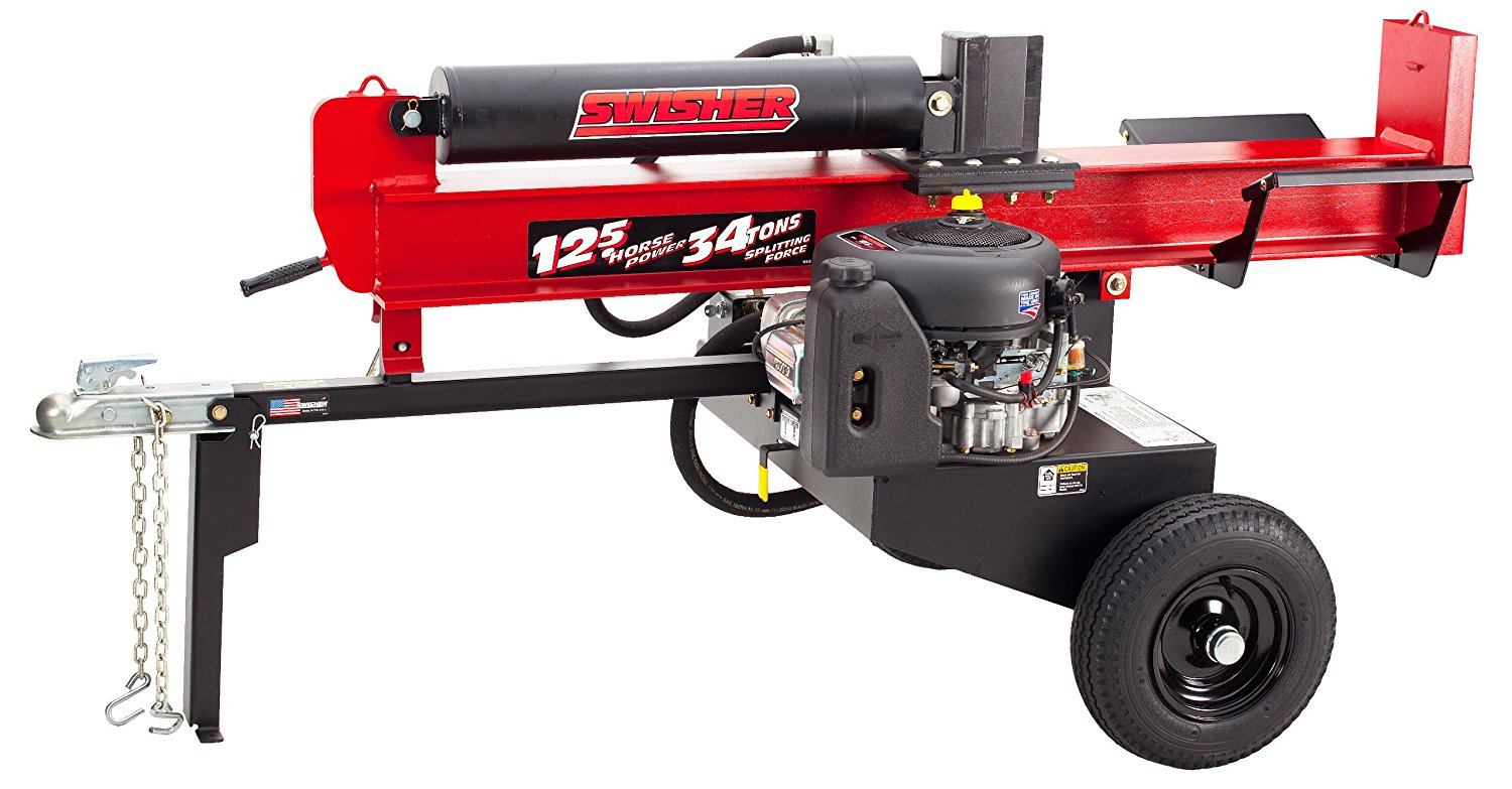 Best Log Splitter-Swisher LSEB125341350 34-Ton Log Splitter with Electric Start