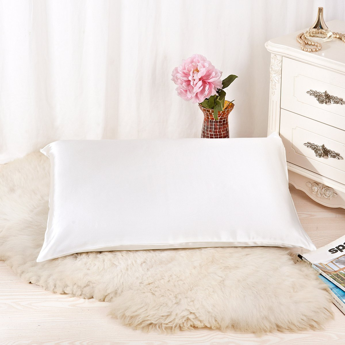Silk Pillowcases-Alaska Bear Natural Silk Pillowcase