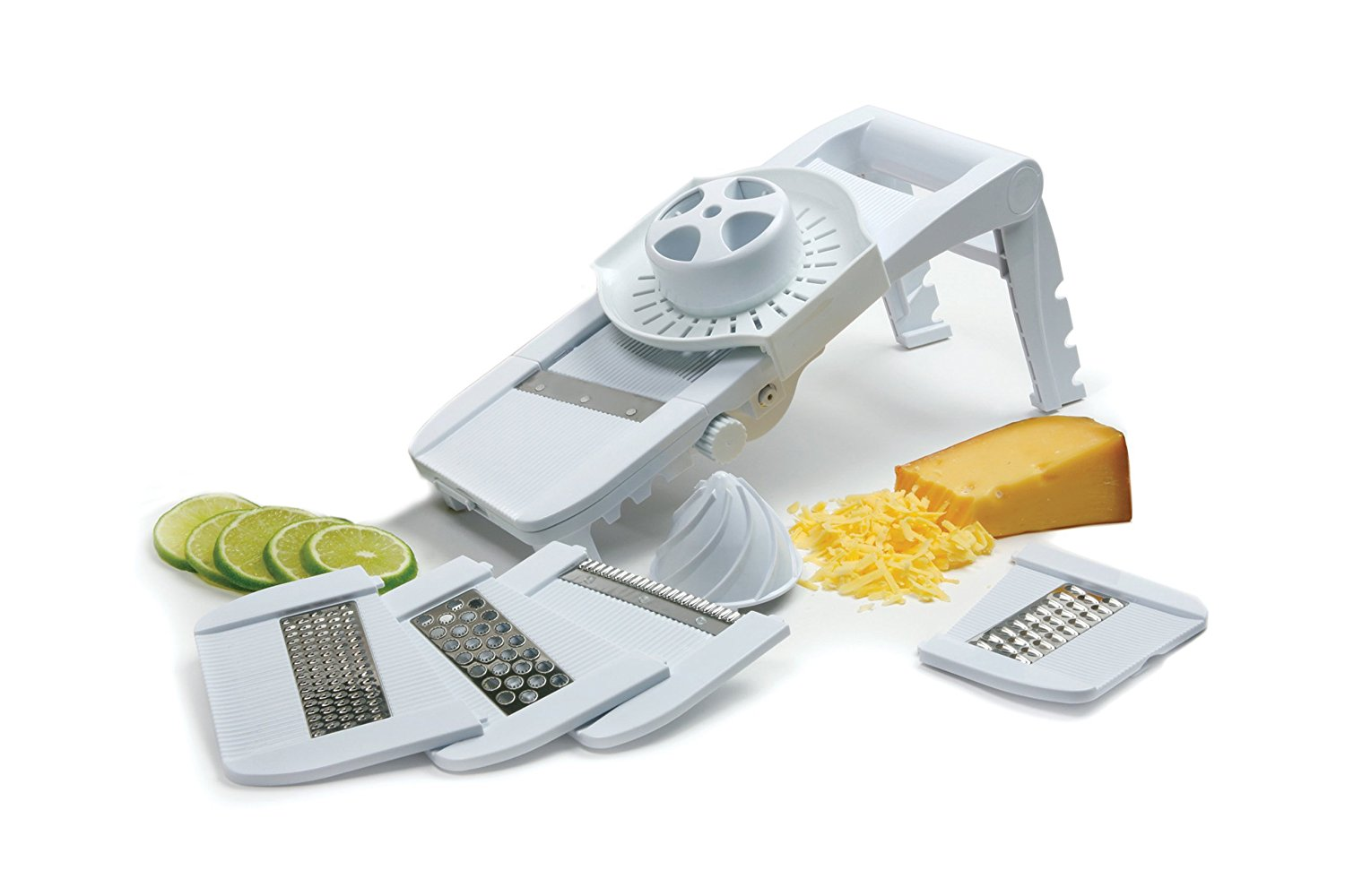 Best Manoline Slicer-Norpro Deluxe Mandoline Slicer, Grater, Shredder, Julienne and Juicer