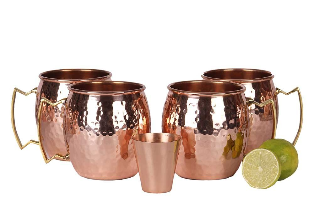 Best Copper Mule Mugs-A29 Solid Pure Copper Unlined Copper Mugs
