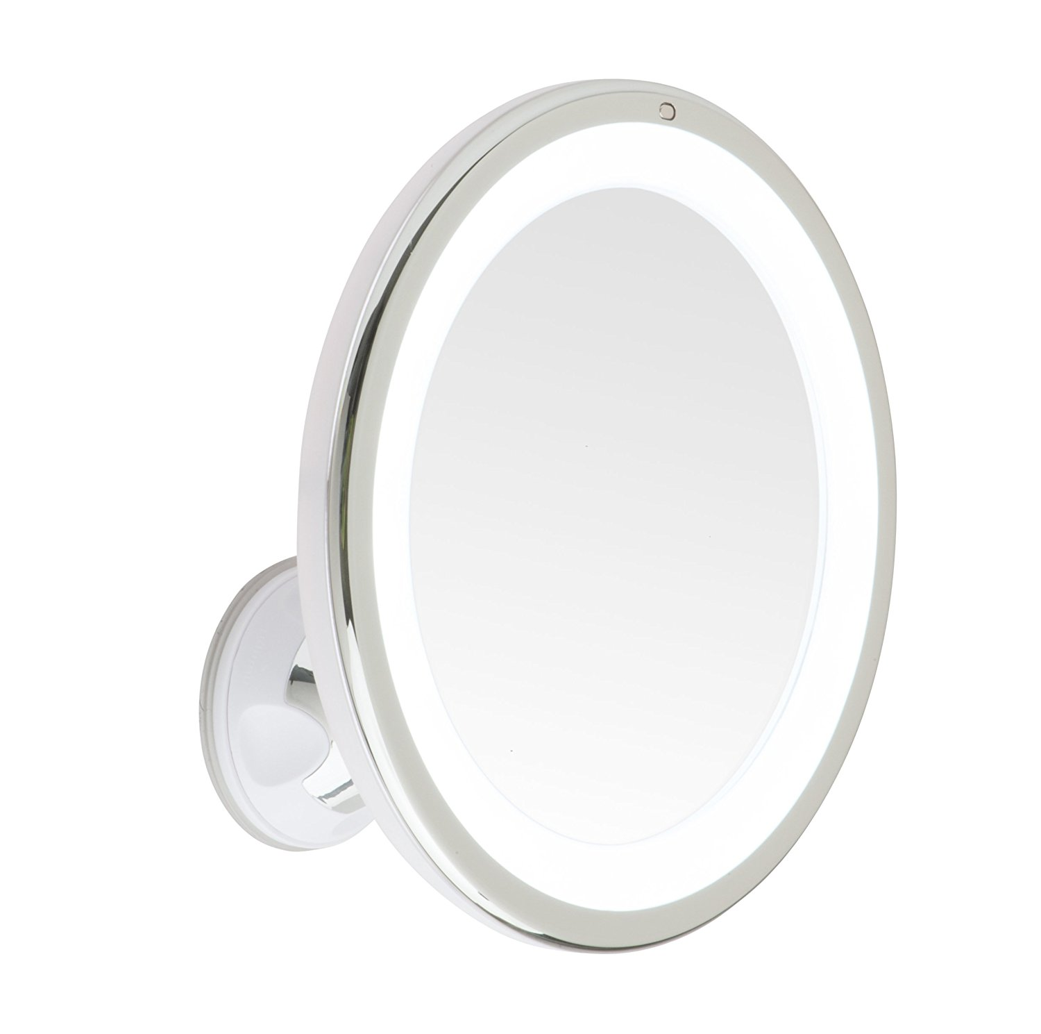 Best Lighted Vanity Mirror-Mirrorvana 8-Inch Diameter 5X Magnifying LED Lighted Vanity Makeup Mirror