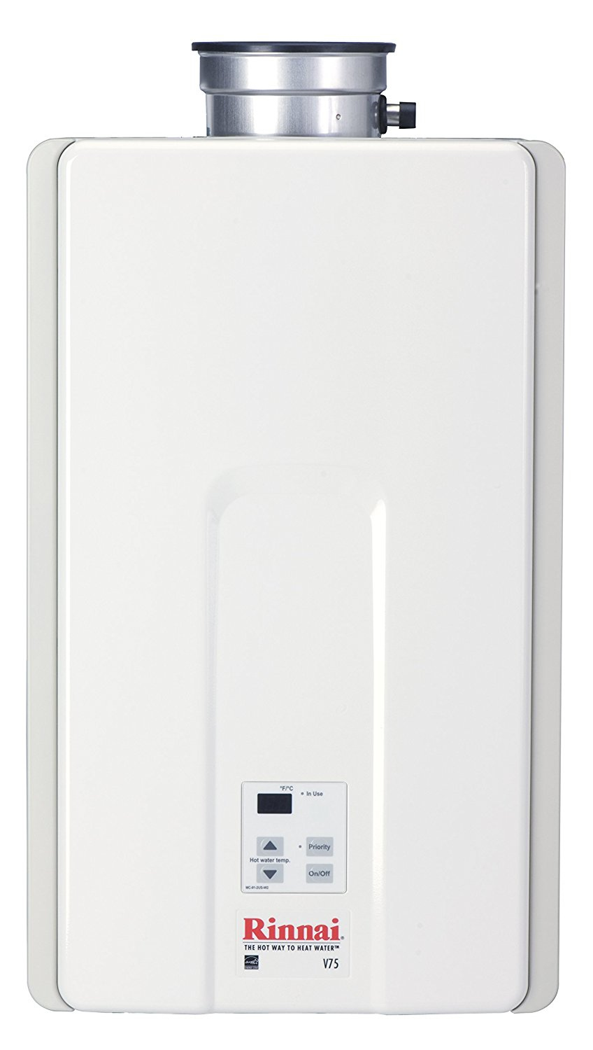 Tankless Water Heater Reviews-Rinnai V75iN Natural Gas Indoor Tankless Water Heater (7.5 GPM)