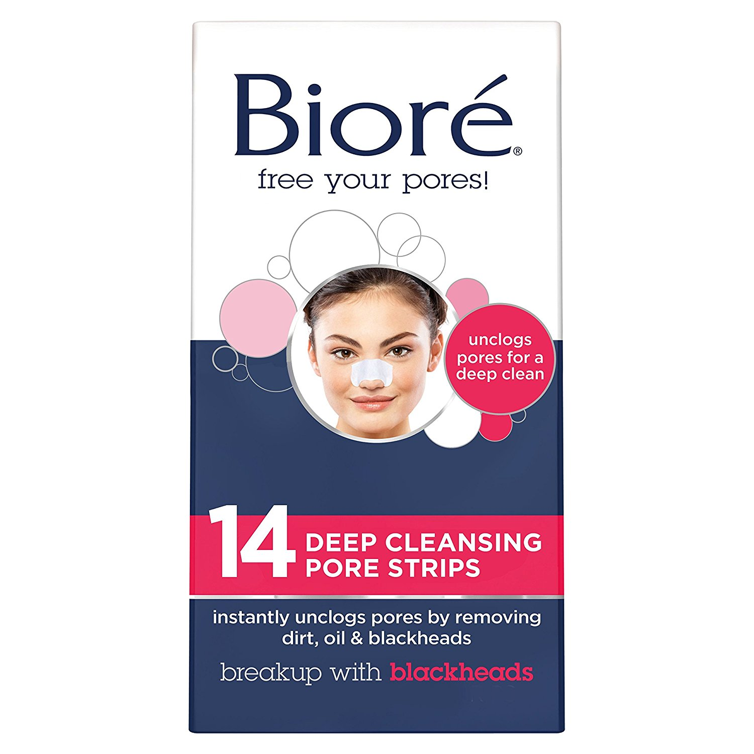 Best Blackhead Remover-Biore Deep Cleansing Pore Strips for Nose