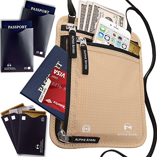 Best Passport Holder-Alpine Rivers Neck Wallet Travel Pouch