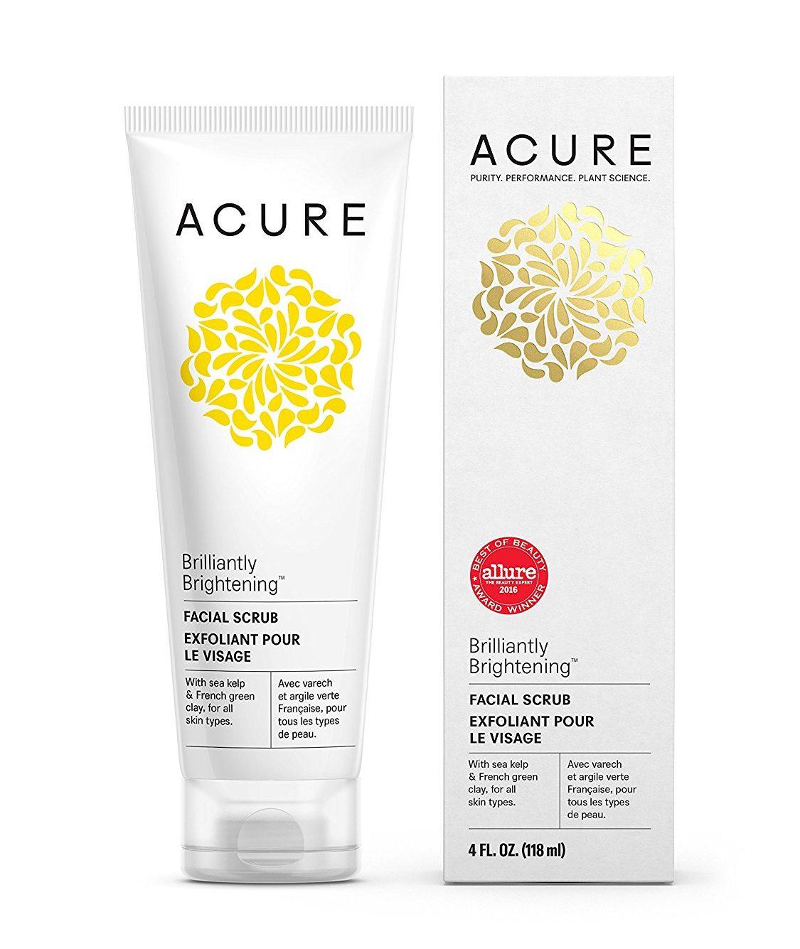 Best Blackhead Remover-Acure Organics Brightening Facial Scrub