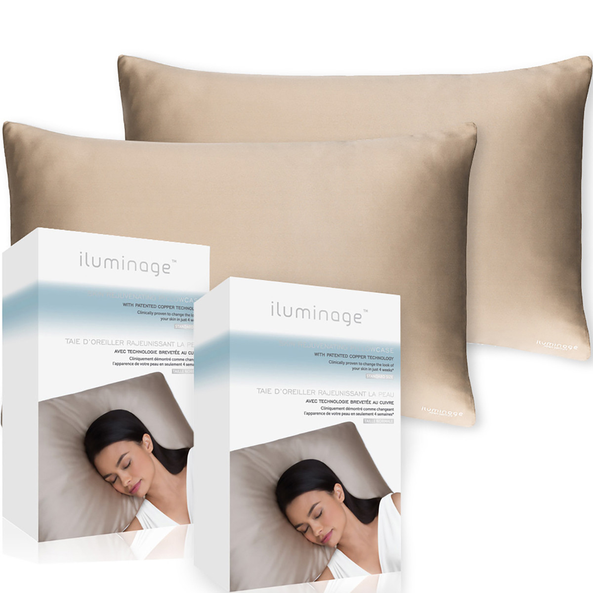 Silk Pillowcases-Iluminage Skin Rejuvenating Pillowcase