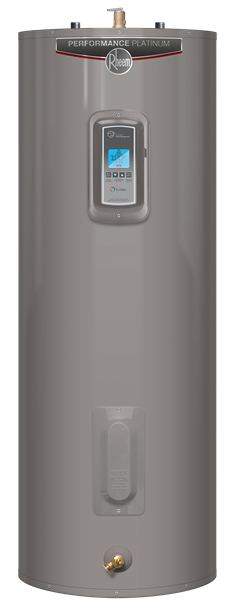 Electric Water Heaters-Rheem Performance Platinum 50 Gallon 12-Year Tall Electric Smart Tank Water Heater