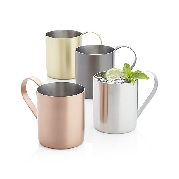 Best Copper Mule Mugs-Crate and Barrel Moscow Mule Silver Mug