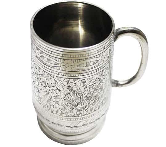 Crate and Barrel Moscow Mule Silver Mug