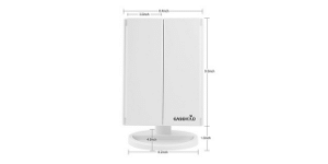 Easehold Tri-Fold Lighted Vanity Mirror