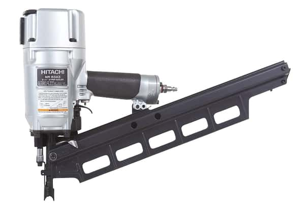 Hitachi NR83A3 Framing Nailer with Tool-Less Depth Adjustment