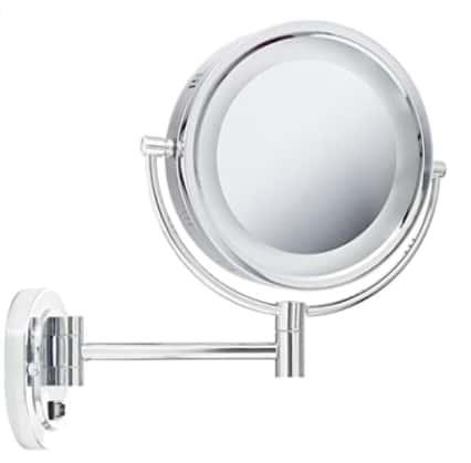 Jerdon HL165CD Wall Mount Makeup Mirror