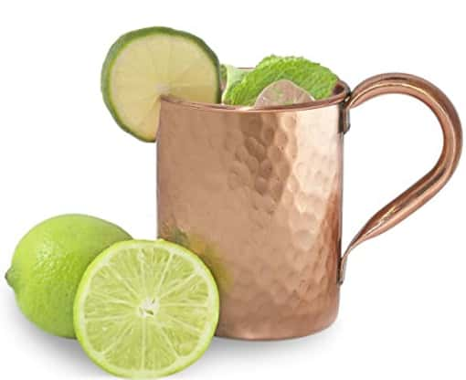 Mint Meets Ginger Moscow Mule Copper Mug