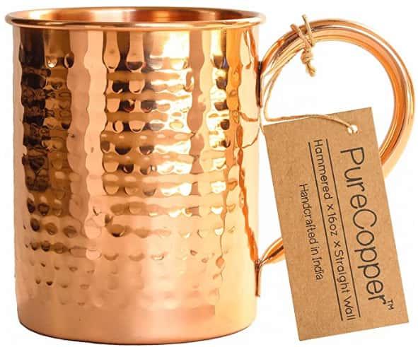 The Original 100% Pure Copper Mug by Moscow Copper Company